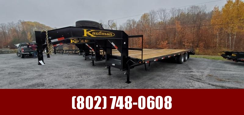 2021 Kaufman Trailers 30' Deck-Over Gooseneck Equipment Trailer 22500lb gvw