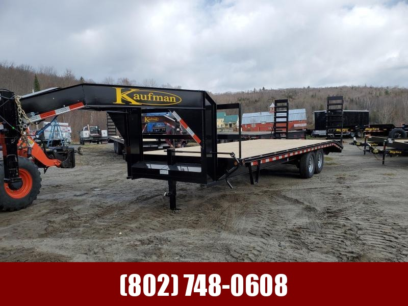 2021 Kaufman Trailers 27' Deckover Gooseneck Deluxe 17k GVW Equipment Trailer