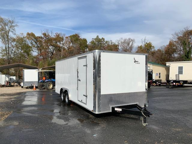 Lark White 8.5' x 20' Car Hauler Trailer w/ Extended Tongue