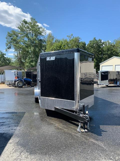 Car Mate 7' x 16' Black Enclosed Cargo Trailer with Ramp