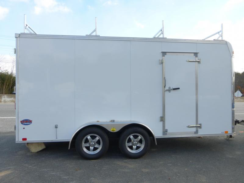 United Trailers 7' x 16' Enclosed Trailer w/ Contractor Package Flat Nose w/ Cargo Doors