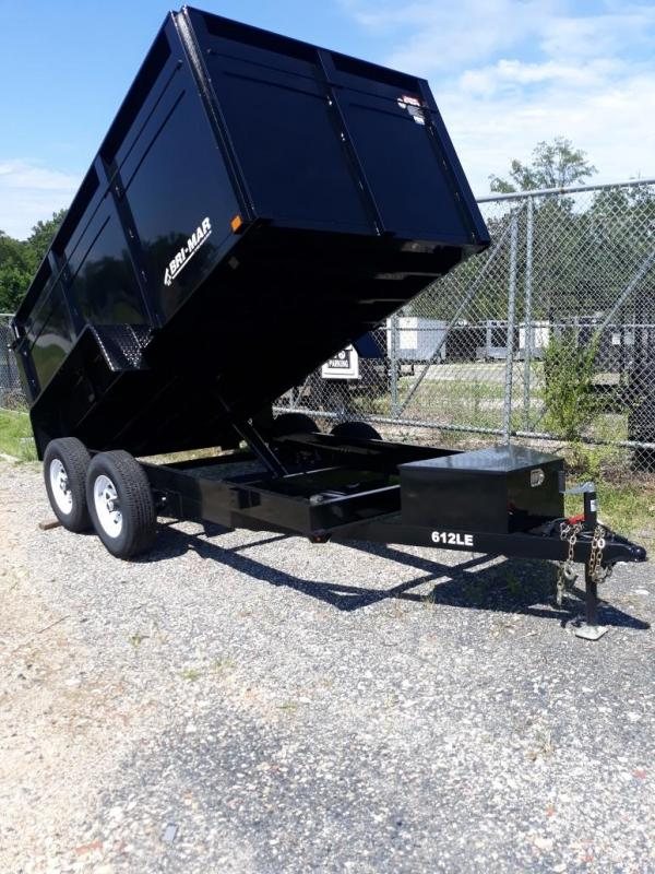 "Bri-Mar 6' x 12' x 44"" Dump Trailer w/ High Sides"