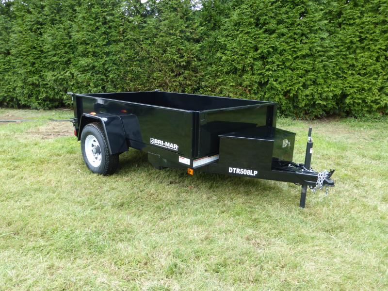"Bri-Mar 5' x 8' x 15"" Single Axle Dump Trailer 5K"