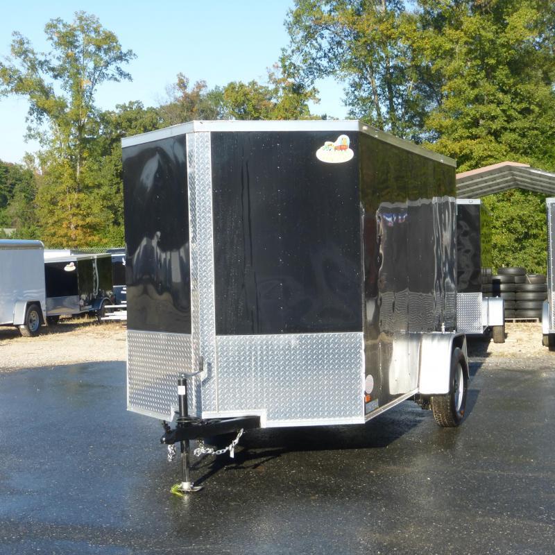 Covered Wagon Black 6' X 10' Enclosed Cargo Trailer w/ Ramp