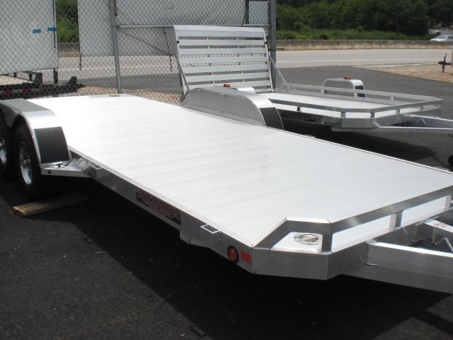 "Aluma 82"" x 18' Open Aluminum Car Trailer 7K"