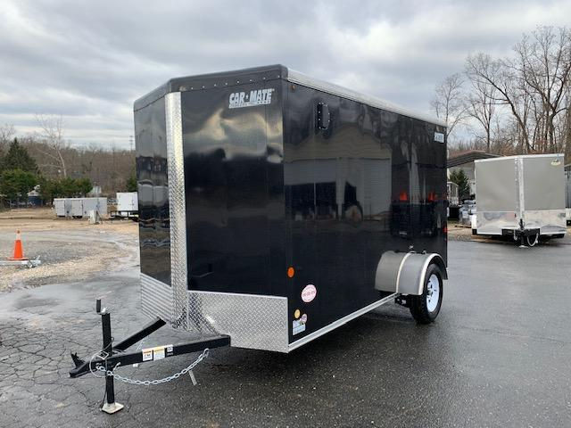 Car Mate Black 6' x 12' Enclosed Cargo Trailer