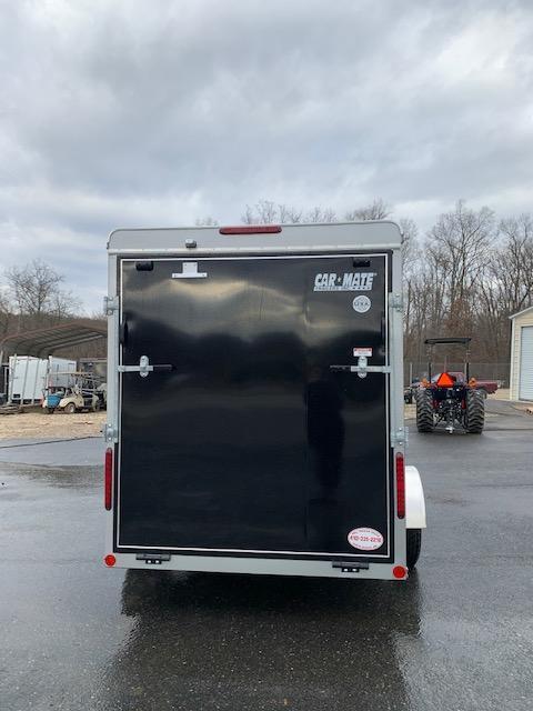 Car Mate Black 6' x 12' Enclosed Trailer