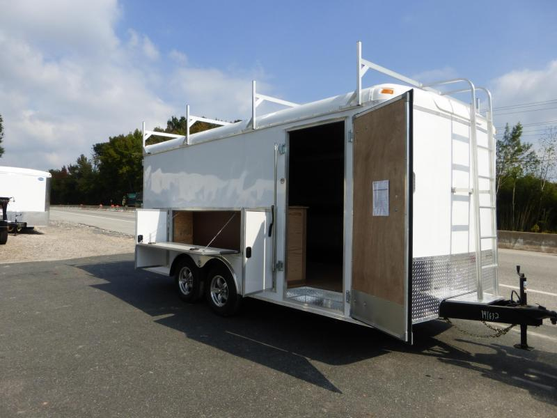 United Trailers 8.5' x 16' Enclosed Trailer w/Tool Crib & Electrical  Package 10K