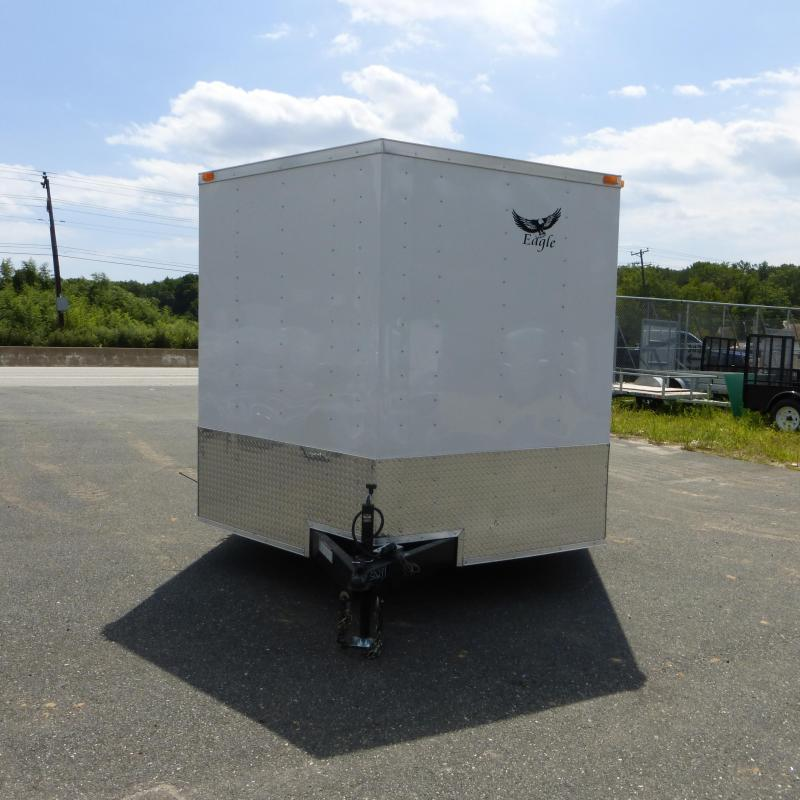 Lark 8.5 x 24' V Nose Enclosed Car Hauler Trailer w/Torsion Axles - 10K