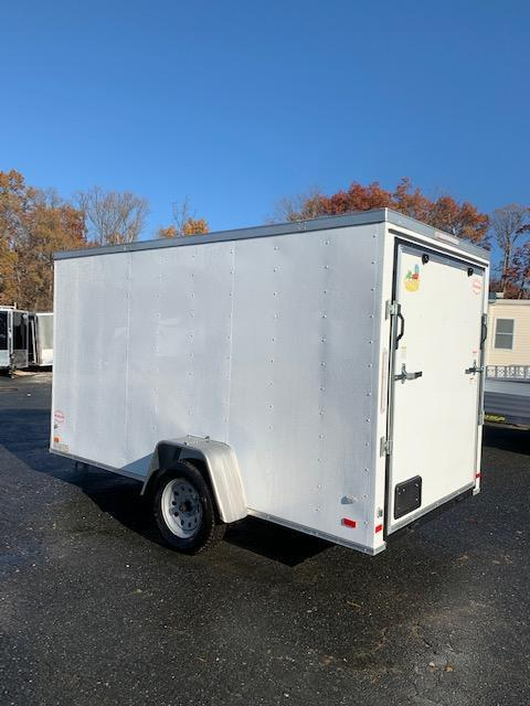 Covered Wagon Trailers 6' x 12' Enclosed Cargo Trailer with Ramp