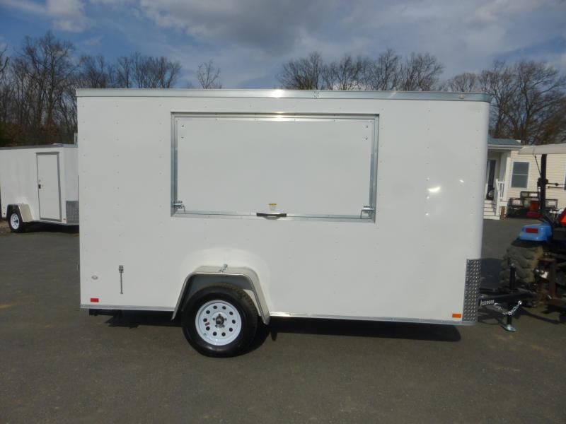 Covered Wagon 6' x 12' Concession Trailer w/ Cargo Doors