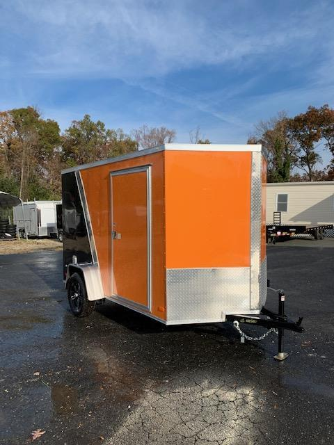 Covered Wagon Orange/Black 6' x 10' Enclosed Trailer w/ Ramp