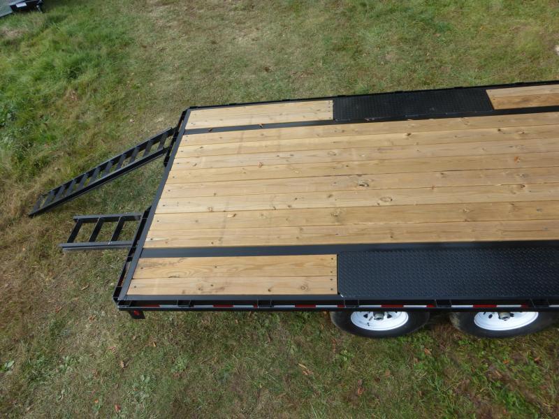 Big Tex 8.5' x 20' Deckover Equipment Trailer w/ 8' Slide-In Ramps