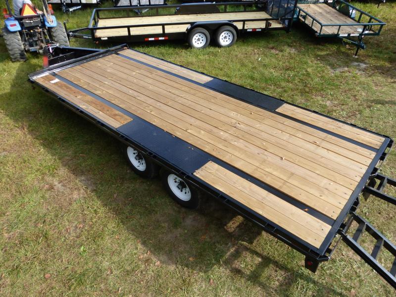 Big Tex 8.5' x 20' Deckover Equipment Trailer w/ 8' Slide-In Ramps 14K