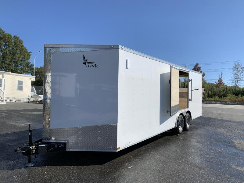 10K Lark 8.5' x 24' Enclosed Car Hauler w/ Escape Door; Torsion Axles