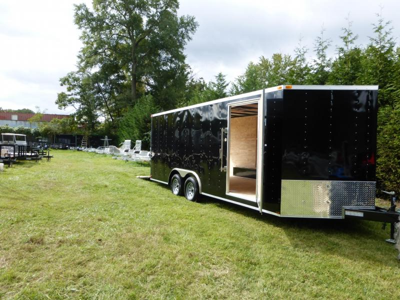 Lark 8.5' x 20' Black Enclosed Car Hauler Trailer