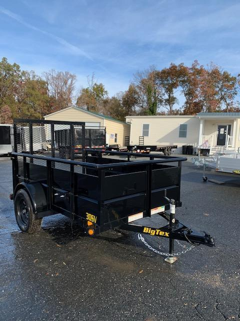 Big Tex 5' x 8' Utility Trailer with Solid Sides