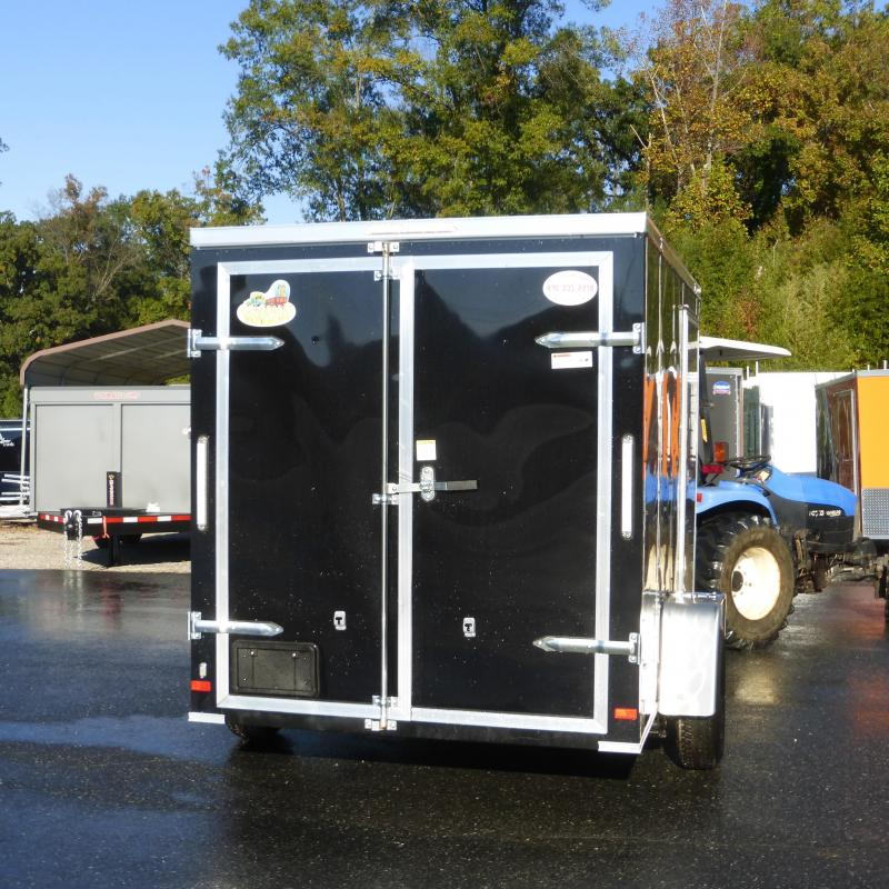 Covered Wagon Black 6' x 12' Enclosed Cargo Trailer with Cargo Doors