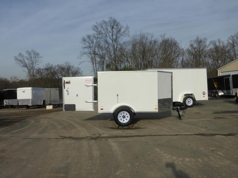 Covered Wagon 4' x 6' V-Nose Enclosed Cargo Trailer - 2K