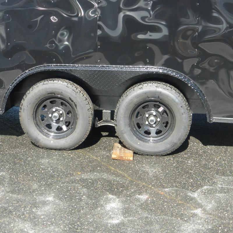 Diamond Cargo 8.5 X 20 Enclosed Trailer Black with Blackout Package