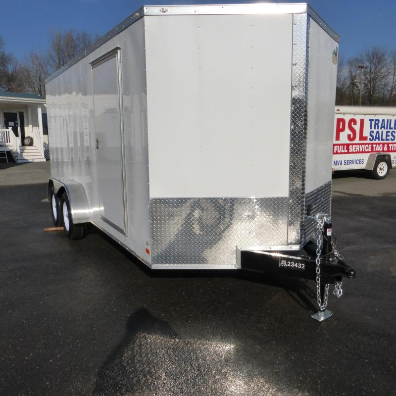 Covered Wagon Trailers 7' x 16' Enclosed Cargo Trailer with Ramp