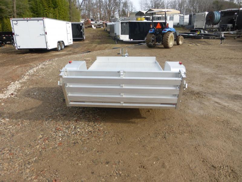 "Aluma 63"" x 10' Aluminum Utility Trailer w/ Bi-Fold Tailgate"