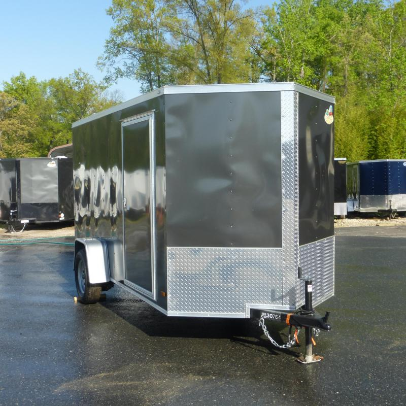 Covered Wagon Charcoal 6' x 10' Enclosed Trailer w/Ramp
