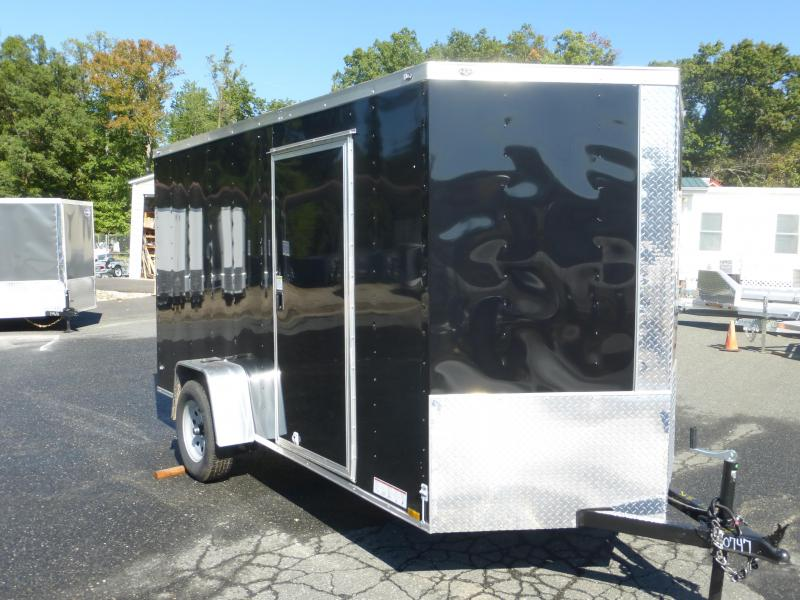 Diamond Cargo Black 6' x 12' Enclosed Cargo Trailer with Ramp