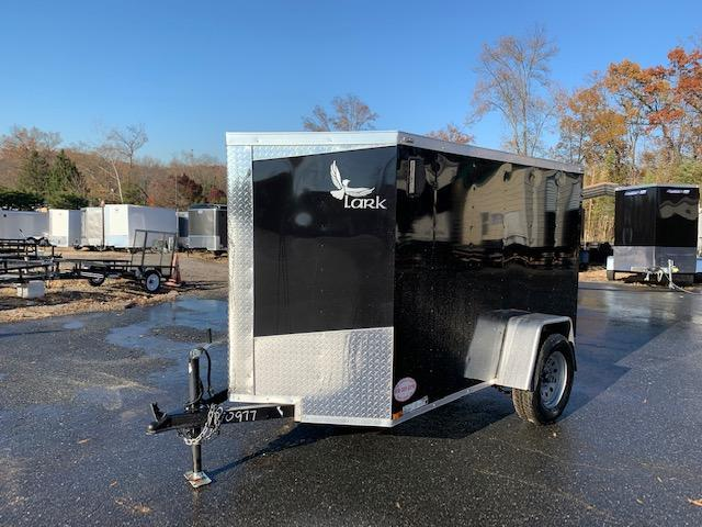 Lark 5' x 8' Black Enclosed Trailer w/Ramp & Side Door