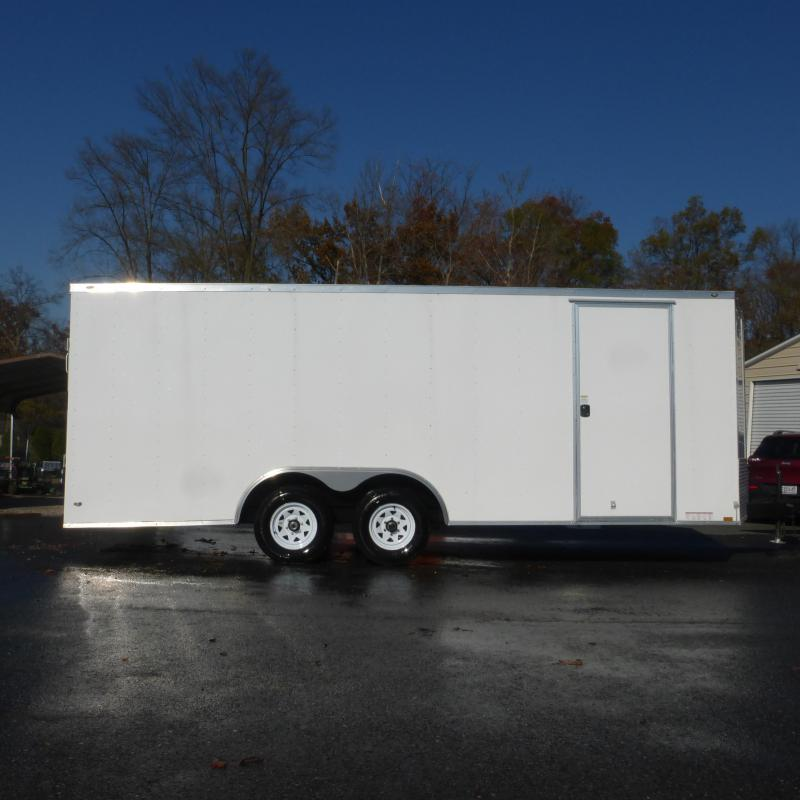 Diamond Cargo 8.5' x 20' V-Nose Enclosed Car Hauler Trailer w/Torsion Axles - 10K