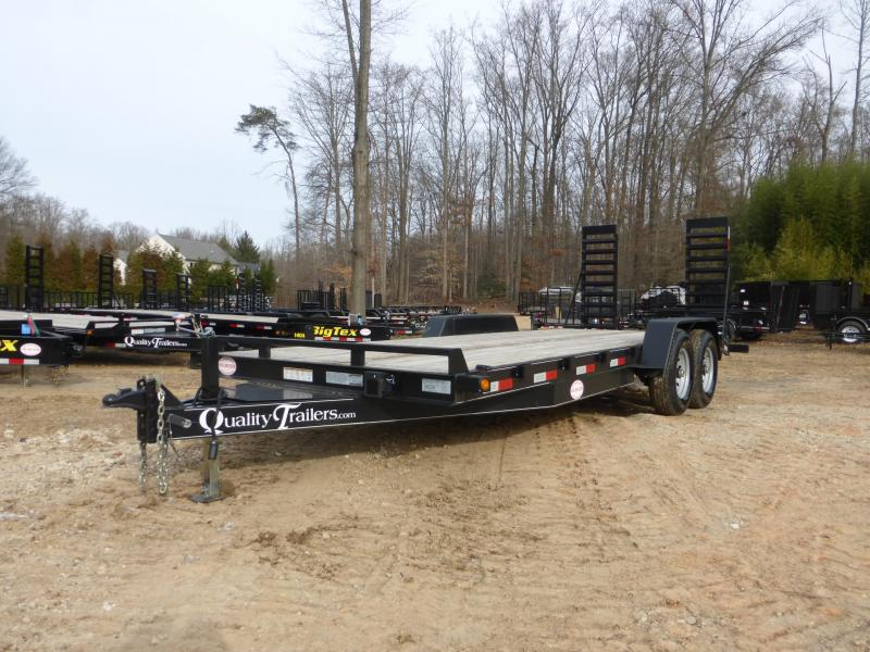 Quality 7' x 18' Equipment Trailer with 2' Dovetail 12K