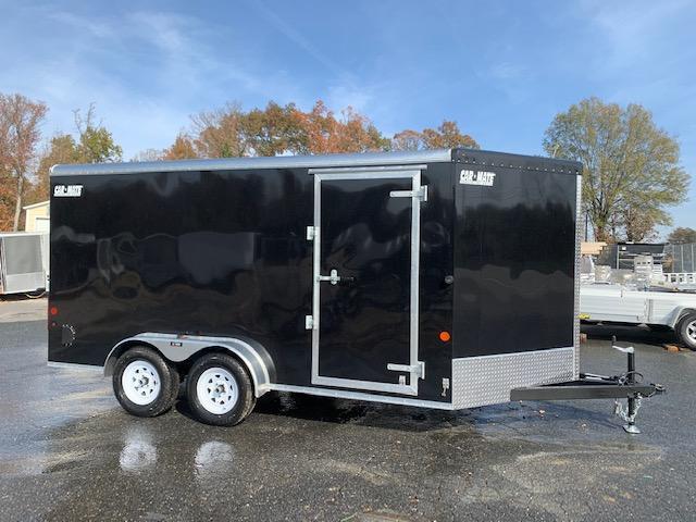 7' x 14' Car Mate Black Enclosed Cargo Trailer