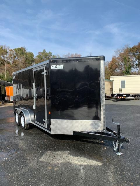 7' x 14' Car Mate Black Enclosed Cargo Trailer