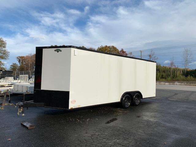 Diamond Cargo 8.5' x 20' White with Blackout Pkg Enclosed Trailer