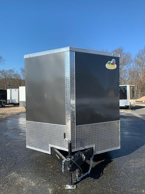 Covered Wagon Charcoal/Black 7' x 16' Enclosed Cargo Trailer