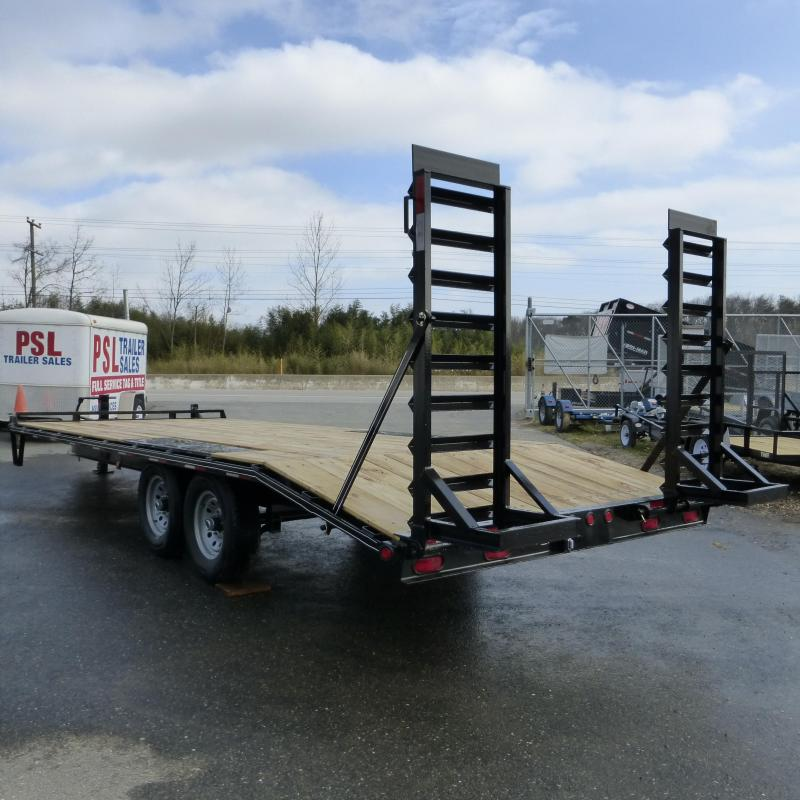 Quality 8.5' x 22' (18 + 4' dovetail) Deckover Equipment Trailer 14K