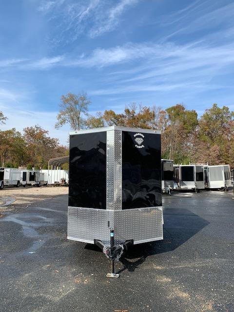 Covered Wagon 6' x 10' Black Enclosed Trailer w/ Ramp - 3K