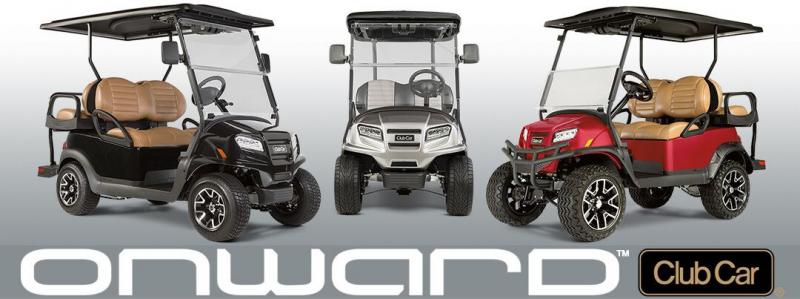 2021 Club Car Onward Lifted Lithium Golf Cart - 4 Passenger