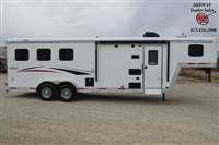 2021 Bison Trailers Scout 7308 w/8' SW LQ GN Horse Trailer