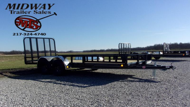 2021 PJ Trailers 83 X 18' CH Util w/Side MT ATV Ramps TA BP Utility Trailer