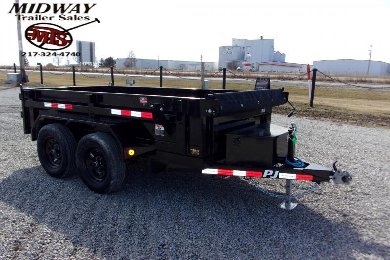 2021 PJ Trailers 60 X 10' Utility Dump TA BP Dump Trailer