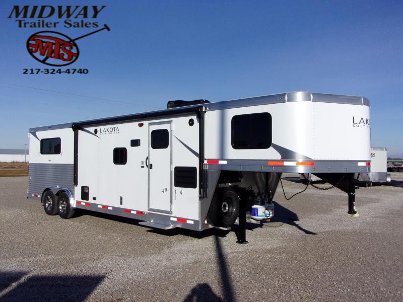 2021 Lakota Colt AC8311 3H w/11' SW LQ Slide GN Horse Trailer