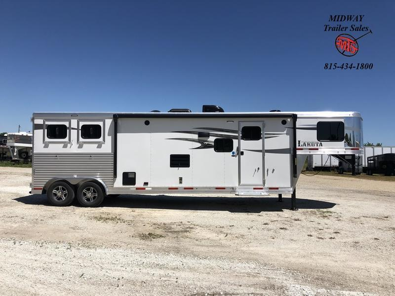2021 Lakota Charger 8213 2H w/ 13' SW & Slide GN Horse Trailer