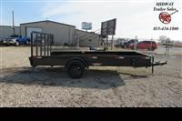 2021 H and H Trailer 82 X 14' SS Utility 3.5K SA BP Utility Trailer