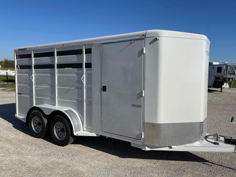 "2022 Titan Trailers Primo 3H (7x6x16') w/ 24"" Dress BP Horse Trailer"