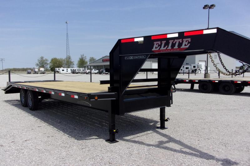 2021 Elite Trailers 102 x 25' (20+5) TA SW Flatbed GN Equipment Trailer