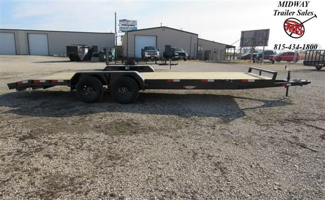 "2021 H and H Trailer 82""X22'(20+2) General Heavy Duty Equipment 7k Equipment Trailer"