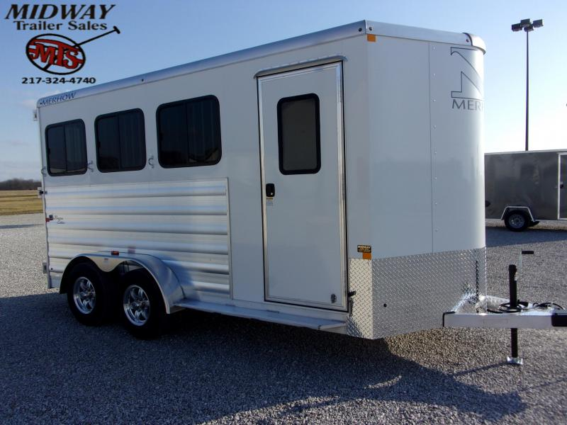 2021 Merhow Trailers Bronco 3H BP Horse Trailer