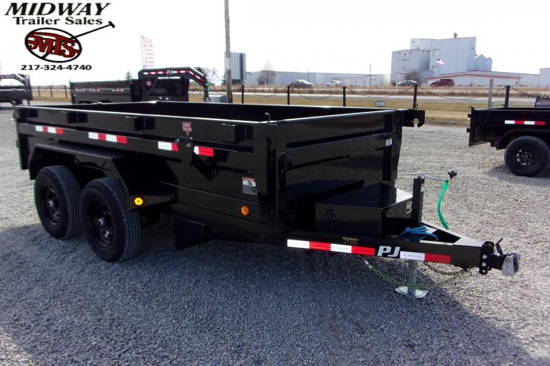 2021 PJ Trailers 77 X 12' Utility Dump TA BP Dump Trailer