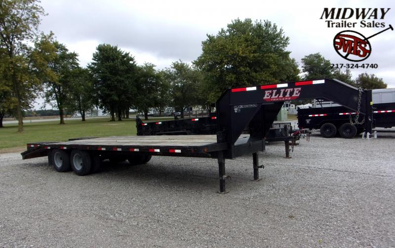 2017 Elite Trailers 25' TD Flatbed GN Flatbed Trailer